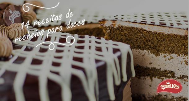 14 receitas de recheios para doces Bread King